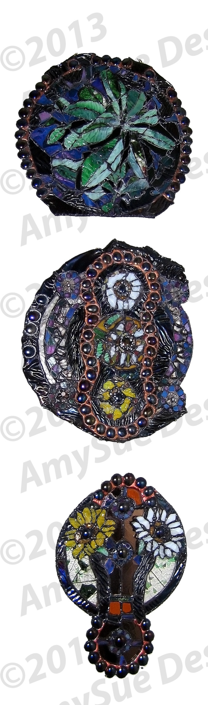 Decorative Stained Glass Sculpture
